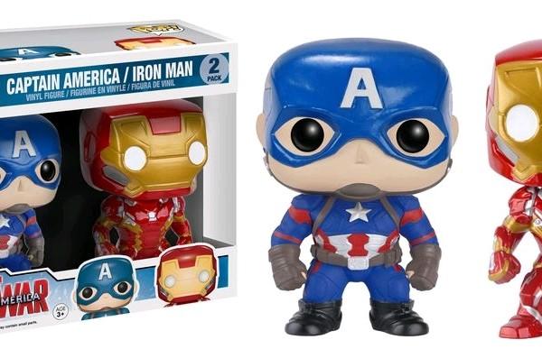 Marvel Pop Vinyl Civil War: Captain America v Iron Man 2 pack - image 29_Captain-America-3-Iron-Man-Captain-America-Pop-Vinyl-Figure-2-Pack-600x397 on http://pop.toys