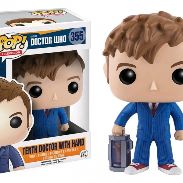 Doctor Who Pop Vinyl: Tenth Dr with Hand #355 - image DrWho-Tenth-Doctor-w-Hand-355-600x600 on http://pop.toys