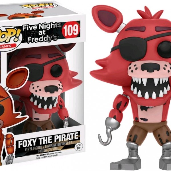 Five Nights at Freddy's Pop Vinyl: FOXY THE PIRATE #109 FNAF - image FNAF-109-Foxy-Pirate-POP-600x600 on http://pop.toys
