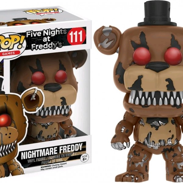Five Nights at Freddy's Pop Vinyl: NIGHTMARE FREDDY #111 FNAF - image FNAF-111-Freddy-Nightmare-POP-600x600 on http://pop.toys