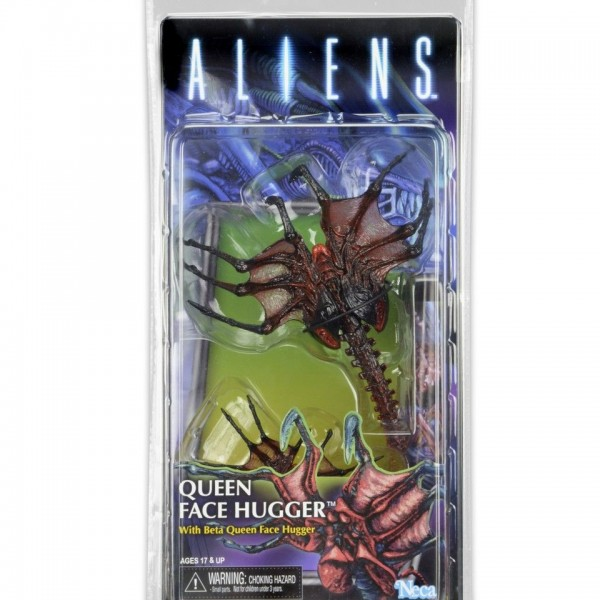 Aliens Series 10: Queen Face Hugger action figure by NECA (Kenner range) - image Aliens-S10_QueenFaceHugger_package-600x600 on http://pop.toys