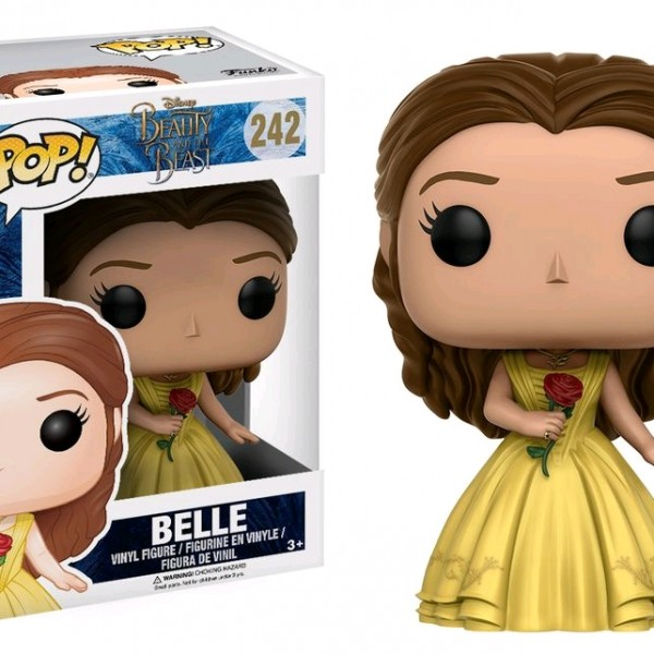 Beauty & the Beast Movie Pop Vinyl: Belle with Rose #242 - image BB17-242_Belle-POP-600x600 on http://pop.toys
