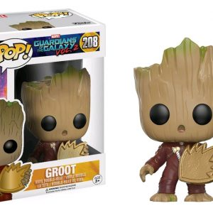 Civil War: 4 Pack Spider-Man, Hawkeye Pop Vinyl with Iron Man & Captain America key chains - image GOTG2-208-Groot-with-patch-POP-300x300 on http://pop.toys