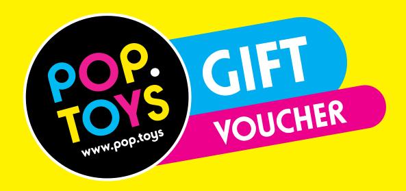 Gift Vouchers - image Pop-Toys-Gift-Voucher on http://pop.toys