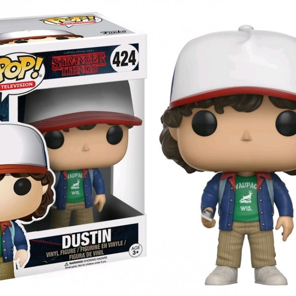 Stranger Things Pop Vinyl: Dustin #424 - image Stranger-Things-424-Dustin-POP-600x600 on http://pop.toys