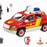 Playmobil City Action 5364 Fire Chiefs Car with lights & sound - image 5364-back-180x180 on http://pop.toys