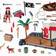 Playmobil Pirates 6146 Pirate Fort Super Set - image 6146-14-p-contents-180x180 on http://pop.toys