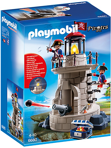 Playmobil Pirates 6680 Soldier Tower with Beacon - image 6680-15-p-box on http://pop.toys
