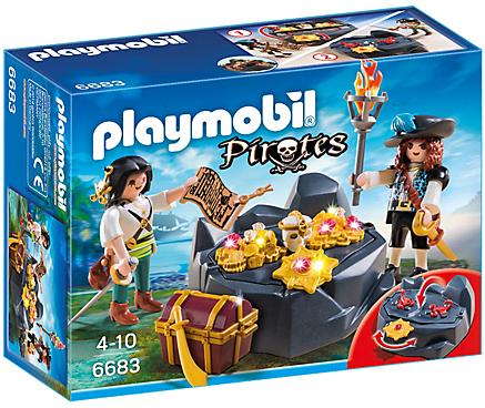 Playmobil Pirates 6683 Treasure Hideout - image 6683-15-p-box on http://pop.toys