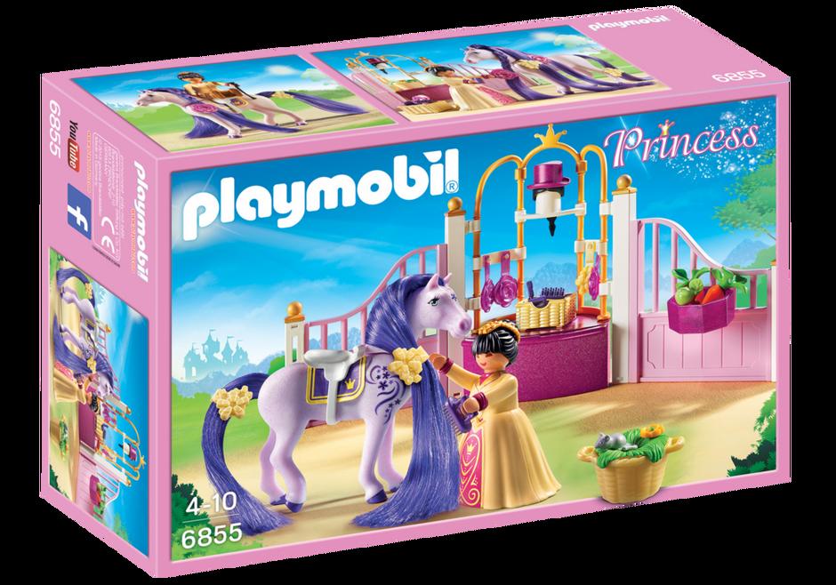 New Playmobil Princess 6855 Castle Stable Ebay