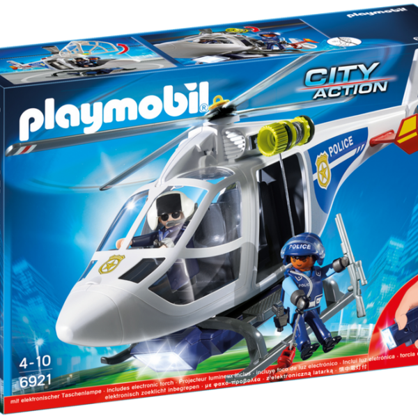 Playmobil City Action 6921 Police Helicopter with LED searchlight - image 6921_product_box_front-600x600 on http://pop.toys