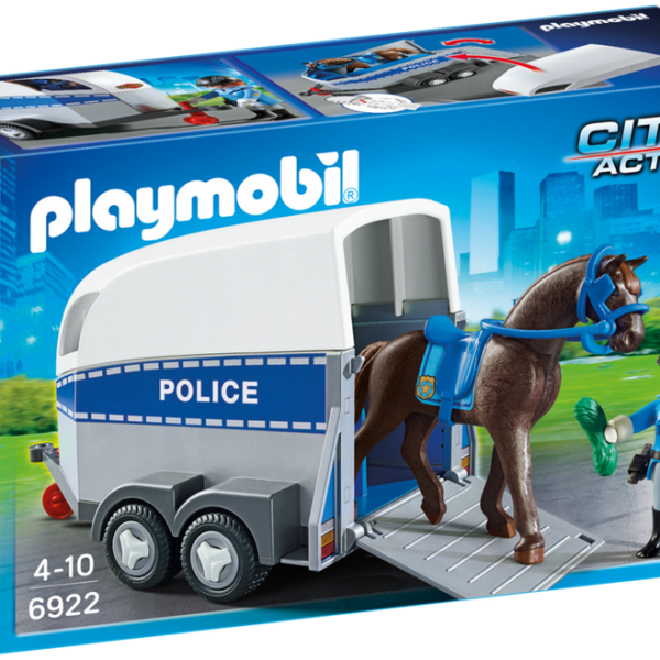 Playmobil City Action 6922 Police with horse and trailer - image 6922_product_box_front-600x600 on http://pop.toys