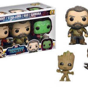 Civil War: 4 Pack Spider-Man, Hawkeye Pop Vinyl with Iron Man & Captain America key chains - image GOTG2-4PackC1-POP-GLAM-300x300 on http://pop.toys