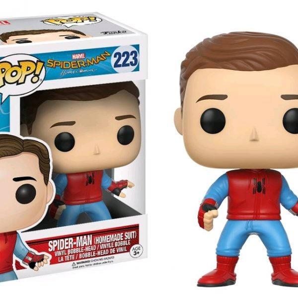 Homecoming Pop Vinyl: Spider-Man (Homemade suit Unmasked) #223 - image Spiderman-HC-Spiderman-Home-Suit-Unmasked-223-600x600 on http://pop.toys