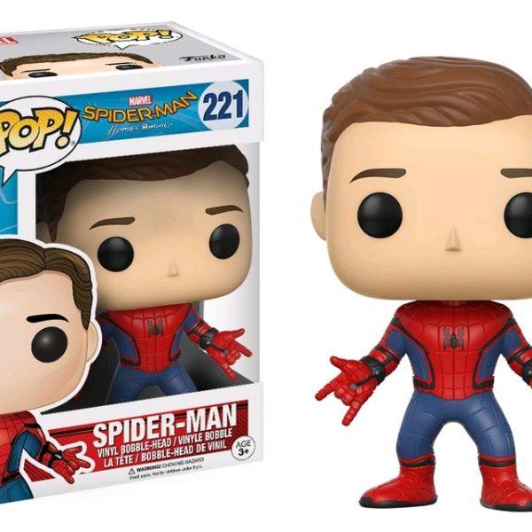 Spider-Man Homecoming Pop Vinyl: Spider-Man (Unmasked) #221 - image Spiderman-HC-Spiderman-Unmasked-POP-221-600x600 on http://pop.toys