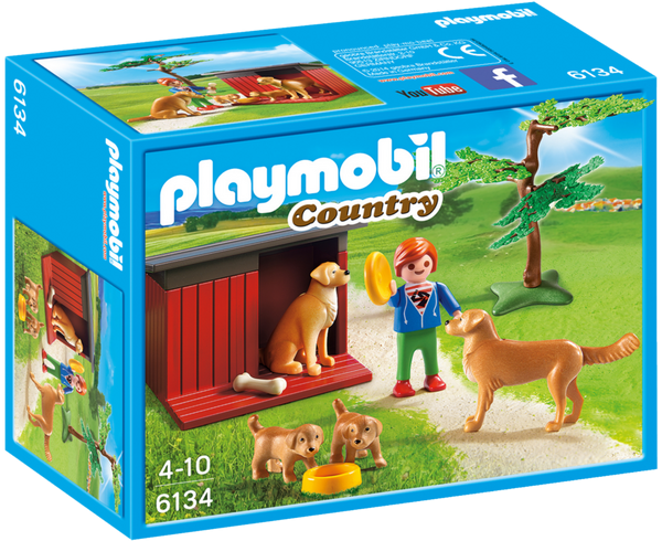 Playmobil Country 6134 Golden Retrievers with Toy - image 6134_goldenretrievers_box_front-600x490 on http://pop.toys