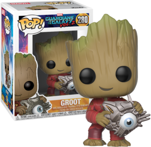 Marvel Pop Vinyl: GOTG Vol 2 Groot with Cyber Eye #280 - image guardians-galaxy-2-groot-cyber-eye-funko-pop-vinyl on http://pop.toys