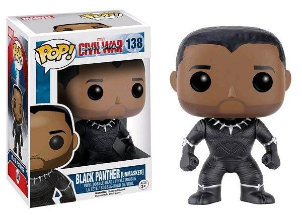 Marvel Pop Vinyl Civil War: Black Panther (Unmasked) #138 - black panther marvel captain america civil war pop vinyl figure - pop toys