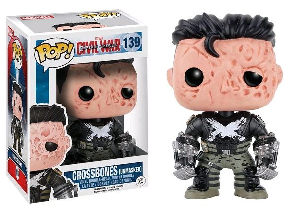 Marvel Pop Vinyl Civil War: Crossbones (Unmasked) #139 - crossbones marvel captain america civil war pop vinyl figure - pop toys