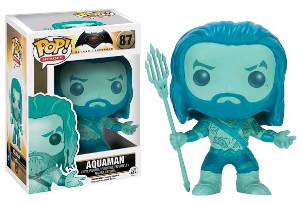 Batman v Superman Pop Vinyl: Aquaman (Underwater Blue) #87 - aquaman batman v superman pop vinyl figure - pop toys