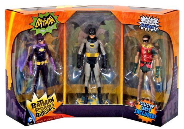 """Batman 1966: Batman, Robin & Batgirl 6"""" figure set - dc heroes - pop toys"""