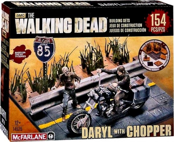 Walking Dead Daryl with Chopper construction building set - the walking dead action figures - pop toys