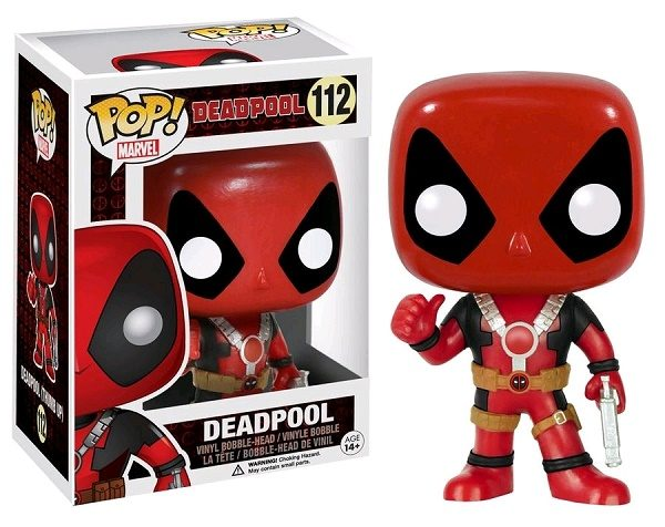 Marvel Pop Vinyl Deadpool (Thumb Up) #112 - deadpool marvel deadpool pop vinyl figure - pop toys
