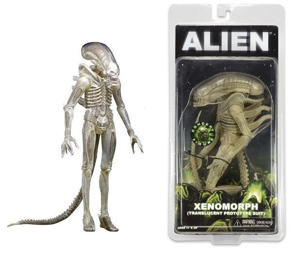 Alien Series 7: Xenomorph (Translucent Prototype Suit) - alien toys - pop toys