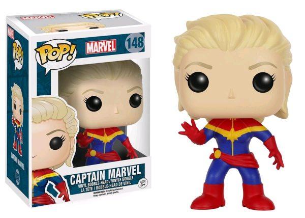 Marvel Pop Vinyl: Captain Marvel (Unmasked) - captain marvel marvel pop vinyl figure - pop toys