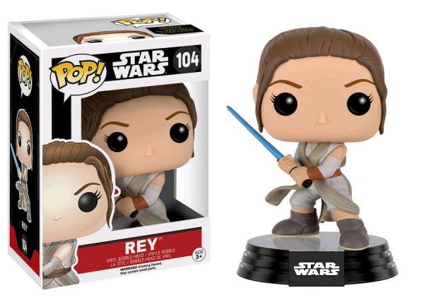 Star Wars Episode 7 Pop Vinyl: Rey (Final Battle) #104 - rey star wars rogue one - pop toys