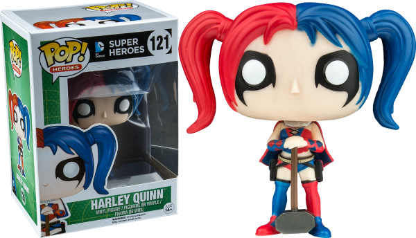 DC Comics Pop Vinyl: Harley Quinn New 52 with Mallet #121 - harley quinn dc super heroes pop vinyl figure - pop toys