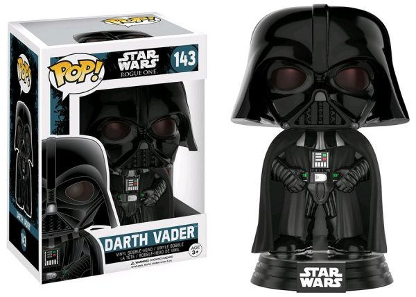 Star Wars Rogue One Pop Vinyl Darth Vader #143 - darth vader star wars rogue one - pop toys