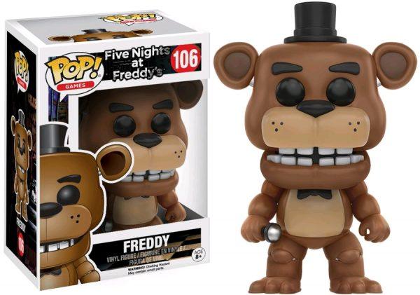 Five Nights at Freddy's Pop Vinyl: FREDDY #106 FNAF - freddy five nights at freddy's pop vinyl figure - pop toys
