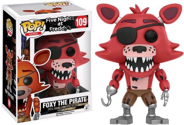 Five Nights at Freddy's Pop Vinyl: FOXY THE PIRATE #109 FNAF - foxy the pirate five nights at freddy's pop vinyl figure - pop toys