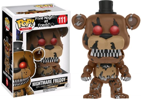 Five Nights at Freddy's Pop Vinyl: NIGHTMARE FREDDY #111 FNAF - nighmare freddy five nights at freddy's pop vinyl figure - pop toys