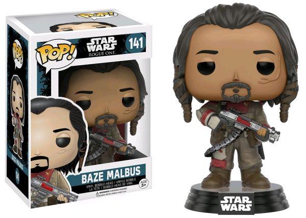 Star Wars Rogue One Pop Vinyl Baze Malbus #141 - baze malbus star wars rogue one - pop toys