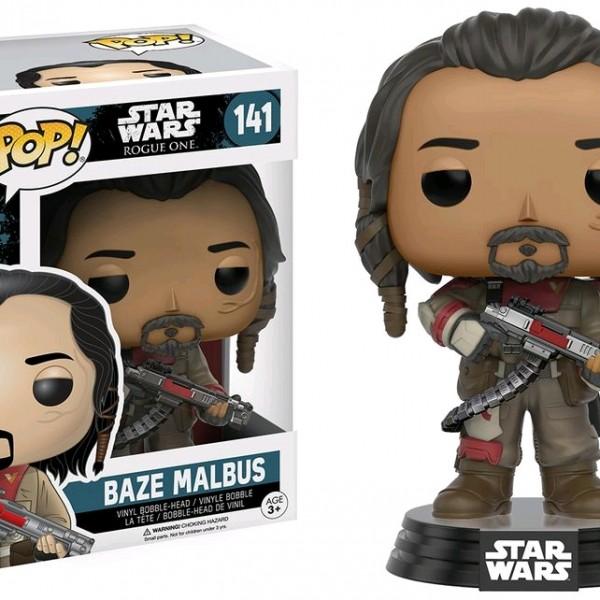 Star Wars Rogue One Pop Vinyl Baze Malbus #141 - image SW-Rogue-One-141-Baze-Malbus-600x600 on https://pop.toys