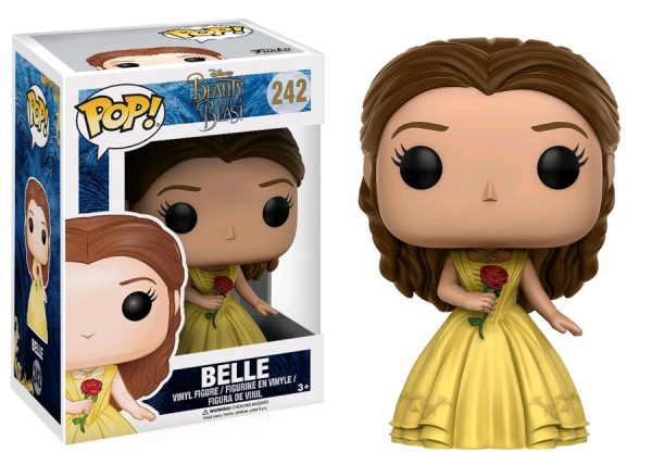 Beauty & the Beast Movie Pop Vinyl: Belle with Rose #242 - belle beauty & the beast pop vinyl figure - pop toys