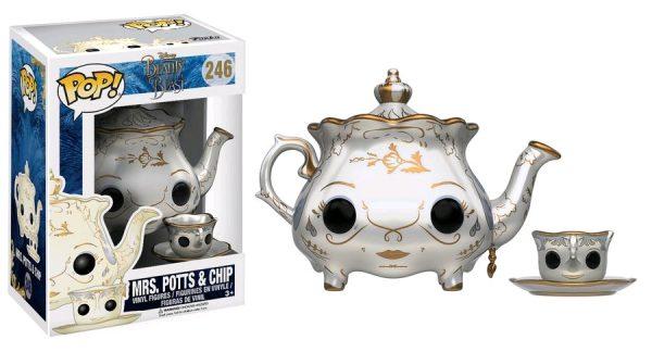 Beauty & the Beast Movie Pop Vinyl: Mrs Potts & Chip #246 - mrs. potts & chip beauty & the beast pop vinyl figure - pop toys