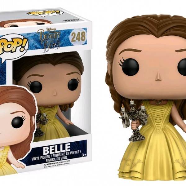 Beauty & the Beast Movie Pop Vinyl: Belle with Candlestick #248 - image BB17-248_Belle-Candle-POP-600x600 on https://pop.toys
