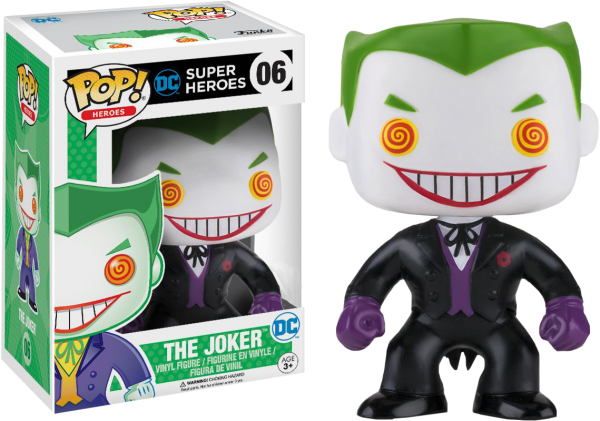 DC Comics Pop Vinyl: The Joker (Black suit variant) #6 - the joker dc comics pop vinyl figure - pop toys