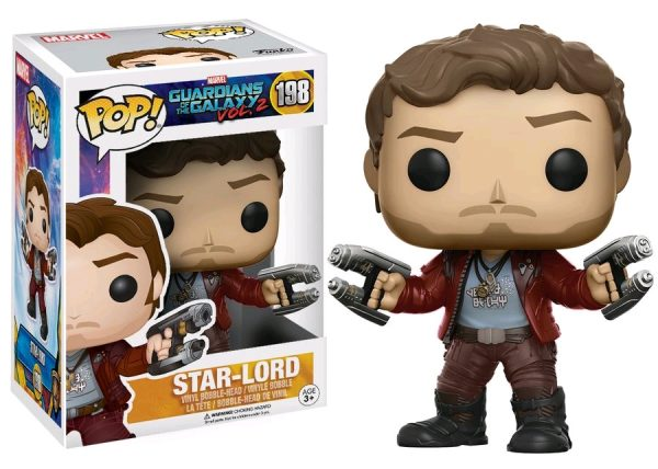 Marvel Pop Vinyl: Guardians of the Galaxy Vol 2 Star-Lord #198 - star-lord marvel guardians of the galaxy pop vinyl figure - pop toys