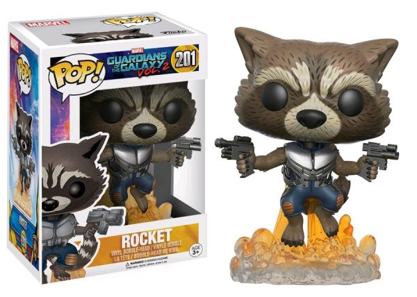 Marvel Pop Vinyl: Guardians of the Galaxy Vol 2 Rocket Raccoon #201 - rocket marvel guardians of the galaxy pop vinyl figure - pop toys