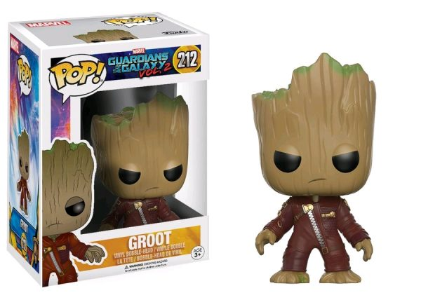 Marvel Pop Vinyl: Guardians of the Galaxy Vol 2 Groot Angry Ravagers #212 - groot angry ravagers marvel guardians of the galaxy pop vinyl figure - pop toys