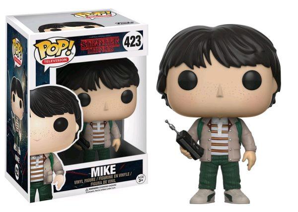 Stranger Things Pop Vinyl: Mike with walkie talkie #423 - mike stranger things pop vinyl figure - pop toys