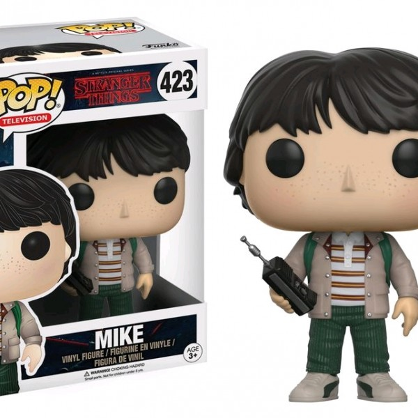 Stranger Things Pop Vinyl: Mike with walkie talkie #423 - image Stranger-Things-423-Mike-POP-600x600 on https://pop.toys