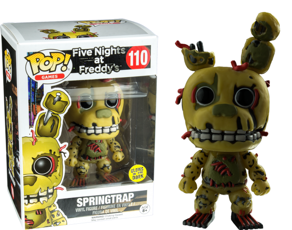 Five Nights at Freddy's Pop Vinyl: SPRINGTRAP Glow in the Dark #110 FNAF - springtrap five nights at freddy's pop vinyl figure - pop toys
