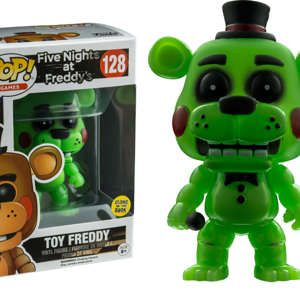 Five Nights at Freddy's Pop Vinyl: TOY FREDDY Glow in the Dark #128 FNAF - image fnaf-glow-in-the-dark-toy-freddy-pop-vinyl-figure-normal-600x600 on https://pop.toys
