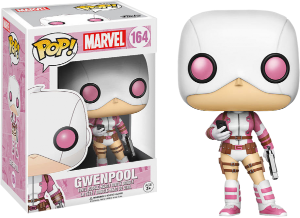 Marvel Pop Vinyl: Gwenpool with telephone #164 - gwenpool marvel pop vinyl figure - pop toys