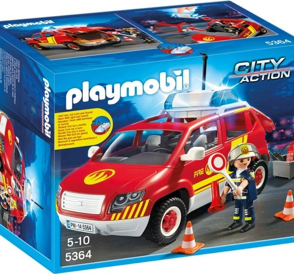 Playmobil City Action 5364 Fire Chiefs Car with lights & sound - image 5364-box-600x560 on https://pop.toys